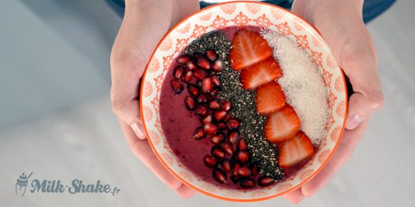 Recette du smoothie bowl aux fruits rouges